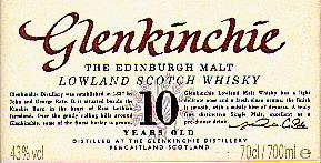 Glenkinchie label.