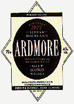The Ardmore Whisky Label. vintage 1977