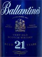 Ballantine's 21 years old front of the box / pipe