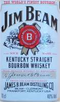 The Jim Beam Kentucky Straight Bourbon Whiskey label