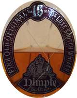 Dimple the pinch 15 years old - the bottle the front label