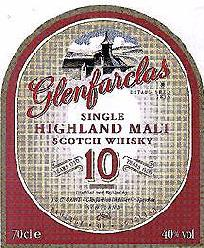 Glenfarclas label Single Highland malt 10 years old