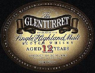 The Glenturret Single Highland Malt Whisky label