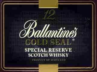 Ballantine's Gold Seal - Top of the Whisky box