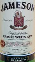 Jameson Irish whiskey - Label