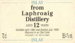 Laphroaig 1984 - 12 Years old - Wm. Cadenhead 58,4% vol
