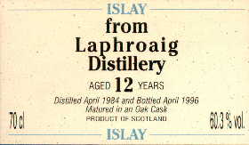 Laphroaig 1984 12 Years old - Wm. Cadenhead 60,3% vol.