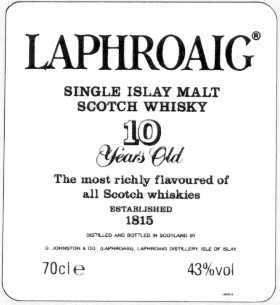 Laphroaig 10 Years old - The label...