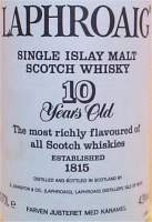 Laphroaig Single islay malt scotch whisky 10 years old