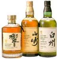 Collection of 3 suntory whisky bottles