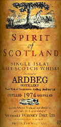 Ardbeg Vintage 1974 - The label