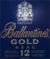 Ballantine's Gold Seal - logo on the box