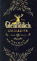 Glenfiddich Excellence 18 Years Old. Front of the Whisky box.